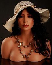 "18"" Tall Realistic Female Mannequin Head, Made of Fiberglass (h5)"