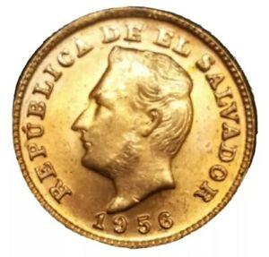 1956 El SALVADOR 1 CENTAVO KM 135 UNCIRCULATED UNC VINTAGE OLD LATIN WORLD COIN