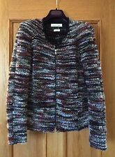 Isabel Marant Etoile Momo Burgundy Tweed Boucle Virgin Wool Shoulder Pad Jacket