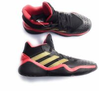 New Adult Adidas James Harden Stepback Basketball Shoes Black with Red & Gold, 7
