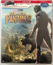 NEW MARVEL BLACK PANTHER BLU RAY DIGITAL HD TARGET EXCLUSIVE 40 PAGEGALLERY BOOK
