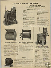 1913 PAPER AD Thor Wood Wooden Red Electric Home Laundry Washing Machine