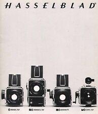 1979 HASSELBLAD CAMERA SYSTEM CATALOG BROCHURE -500C/M-SWC-500EL/M-2000FC