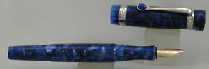 Stipula I Castoni Lapis Blue & Palladium Fountain Pen - 14kt Nib - c2000 - Italy