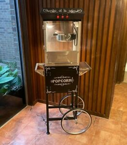 Great Northern 8 oz. Ounce Foundation Vintage Style Popcorn Machine & Cart