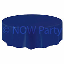Plastic ROUND TABLECOVER Table Cloth Colours BBQ Catering Events Party Tableware