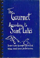 *HILTON HEAD ISLAND SC 1980 GOURMET ACCORDING TO ST LUKE'S COOK BOOK *EPISCOPAL
