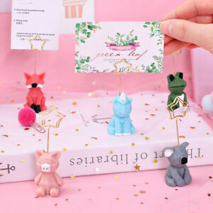 1Pcs Table Place Card Holder Table Number Holders Stands Photo Picture Memo Clip