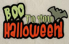 DISNEY Boo to You Halloween Die Cut Title Paper Piece for Scrapbook Page SSFFDeb