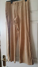 Velour gold leisure trousers with satin detail by Moda size S
