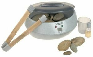 Conair PORTABLE Heated Hot Stone SPA Therapy FOR Massage with REAL RIVER STONES