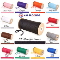 5mm DRAWSTRING CORD ROUND POLYESTER LACE PIPING STRING ROPE DRAWCORD 30 COLOURS