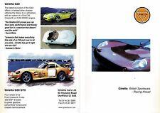 Ginetta G27, G33 & G33 GT3 cars (made in GB) _2000 Prospekt / Brochure