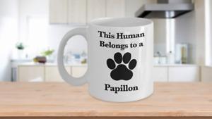Papillon Mug White Coffee Cup Continental Toy Spaniel Dog Mom Fur Dad Human Pup