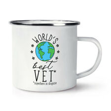 World's Best Vet Retro Enamel Mug Cup - Funny Animal