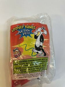 Vintage 2000 Wendy's Fast Food Toy Looney Tunes Action Pens Sylvester New
