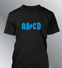 Tee shirt personnalise ABCD M L XL XXL humour homme ACDC AC-DC logo détourné