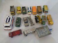 17x Vintage Matchbox Corgi Husky Diecast Car  with Defects
