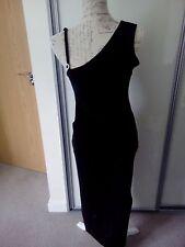 Black Velvet One Shoulder Maxi Dress