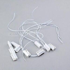 5 x Magnetkontakt Reedkontakte aus Kunststoff für Alarmanlage 100V