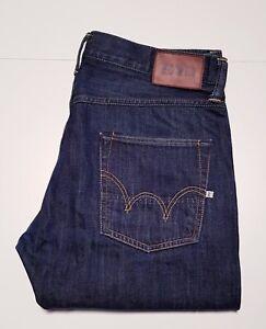 "Men's EDWIN signature branded ED-55 RELAXED designer denim jeans 34""w & 32""L"