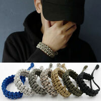 7 Colors Survival Outdoor Buckle Rope Paracord Bracelet For Camping HikingSJKB