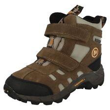 Chaussures marron avec attache auto-agrippant en cuir pour fille de 2 à 16 ans