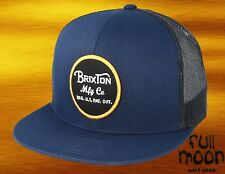 New Brixton Wheeler Navy and Charcoal Mens Mesh Back Trucker Snapback Cap  Hat ad580cfdf83c