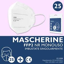 25 Mascherine PROTETTIVE FFP2 NR Mascherina Monouso FILTRANTI Certificate 2008