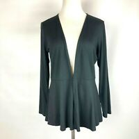 J Jill Wearever Collection Black Stretchy Knit Cardigan Sweater Size Small