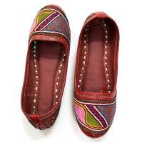 Rare Women's Leather Jutti Traditional Mojari Punjabi Khussa Design US Style