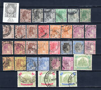 MALAYA  STRAITS SETTLEMENTS 1922-1934 FMS TIGERS SELECTION OF USED STAMPS