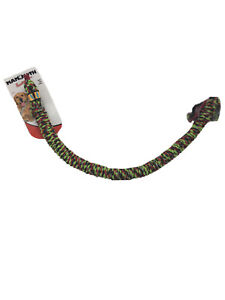 Mammoth Snake Biter Toss Tug Floss Green & Red Rope Toy for Dogs 30 Inches New!
