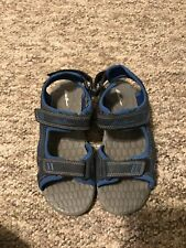 Boys Eddie Bauer Sandals/ Water Shoes Size 2 Blue And Black
