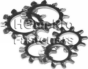 #6 STAINLESS EXTERNAL TOOTH STAR LOCK WASHERS  18-8