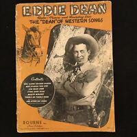 "1946 Eddie Dean 15 Music & Lyric Song Book ""The Dean Of Western Song"""