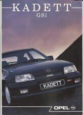 N°11321 / catalogue en français  OPEL KADETT GSI juillet 1988