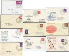 More details for gb philatelic congress+stamp exhibition postmarks+covers 1958-63..each priced