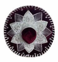 Belri Hats Mexican Mariachi Sombrero Charro Cinco de Mayo Royal Red And White