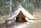UNISTRENGH Waterproof 6M Canvas Bell Tent Hunting Camping Family Tent Stove Jack