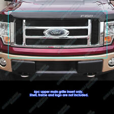 Fits 2009-2012 Ford F-150 Lariat/King Ranch Black Billet Grille Grill Insert