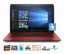 "HP 17-y025cy Laptop, AMD A12, 12GB, 2TB HDD, 17.3"" HD+ Touch WLED, MS Office 365"