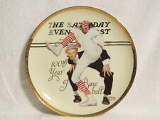 """Sports Impressions Norman Rockwell July 8,1939 Plate """"100th Year of Baseball"""""""