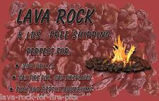 Lava Rock, 8 pounds, gas grill lava rock replacement, new