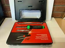 Snap On 8 pc Ratcheting Soft Grip Screwdriver Set new GREEN..