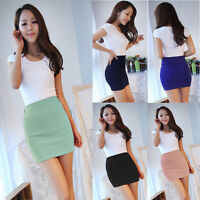 Stylish Womens Sexy Mini Skirt Slim Seamless Stretch Tight Short Fitted Skirt JP
