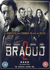 Braquo Complete Series 2 DVD All Episodes Second Season Original UK Release R2
