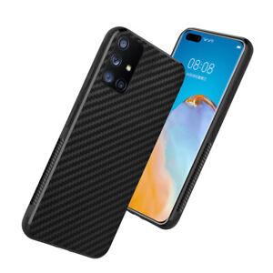 Slim Carbon Fiber Hybrid Soft Case Cover For Galaxy S20 S9 S8 Plus Note 9 A71