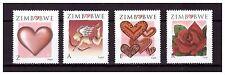 ZIMBABWE 2008 VALENTINES DAY SET SG 1250 TO 1253
