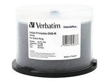 Verbatim DataLifePlus White Inkjet DVD-R Media 16x 4.7GB 50-Pack Spindle